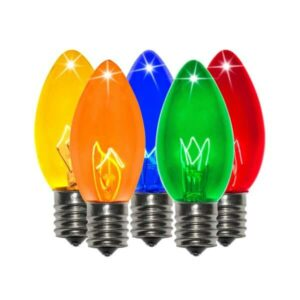 C9 Incandescent Multi-Colored Twinkle Bulbs