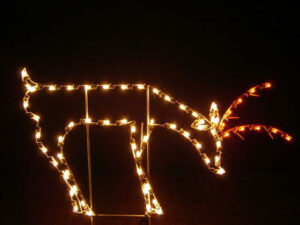 Deer Holiday Light Display