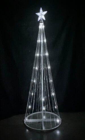 Cool White Light Show Tree