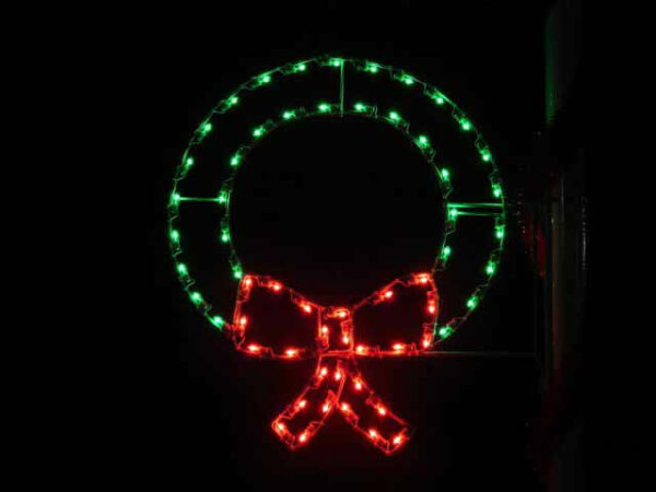 Wreath Holiday Light Display