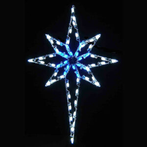 5 FT POLE MOUNT SILHOUETTE DELUXE STAR OF BETHLEHEM