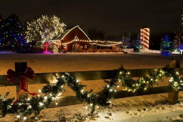 Farm Holiday Lights