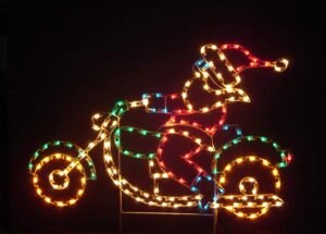 Santa Claus Motorcycle Holiday Display