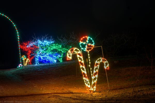 Candy Cane Holiday Light Displays