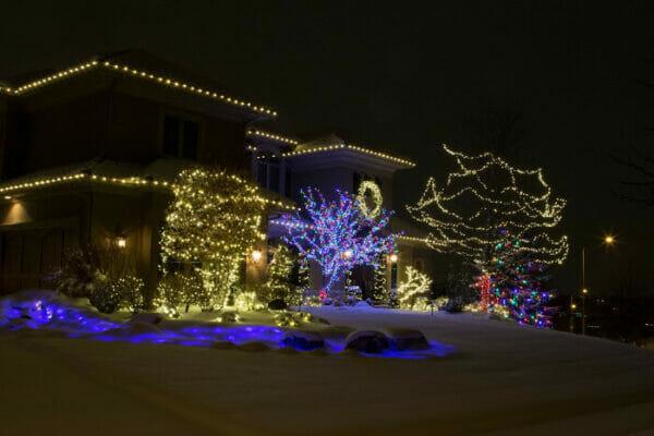 Warm White Multi Colored Lights
