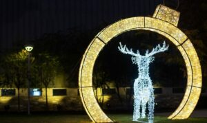 shimmering ornament arch