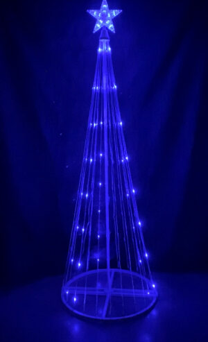 Blue Light Show Tree